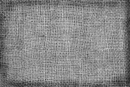 fibra: Burlap Background. Natural textured canvas, black and white tone.