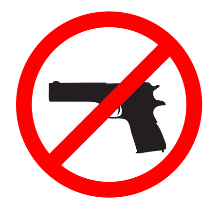 gun control: no gun sign - isolated illustration, eps 10 Illustration