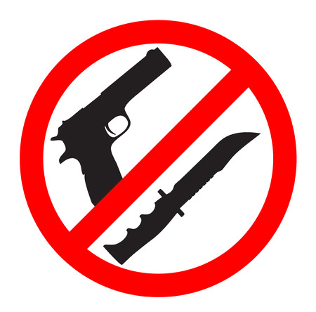 weapons: No weapons sign and symbol