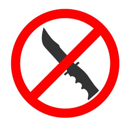 no symbol: No Knife Sign and Symbol