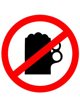 alcoholism: Prohibition sign icon. No drink beer. Vector illustration Illustration