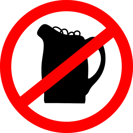 No beer sign. Vector illustration with beerglass. Illustration