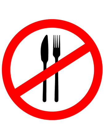 no food: No Eating Sign. No food. Vector illustration.Prohibition sign icon.
