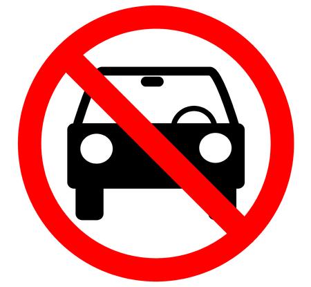 Nessun veicolo o nessun segno di traffico parcheggio, vietare il segnaletico