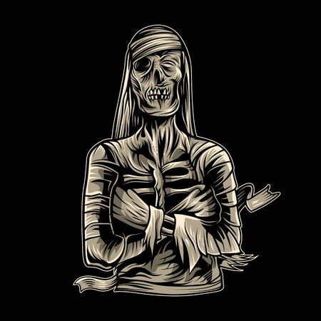 mummy vector illustration dark background