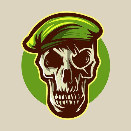 skull of military design vector illustration