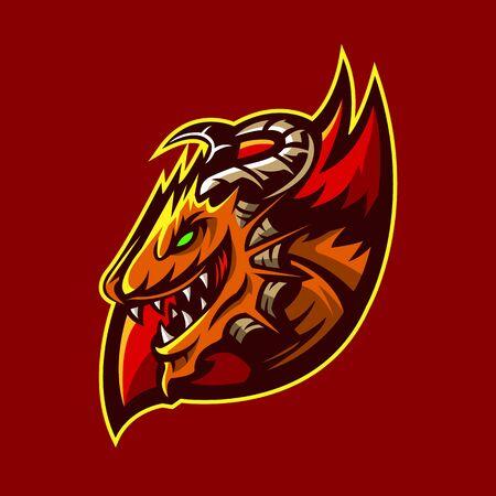 dragon sport logo vector illustration design