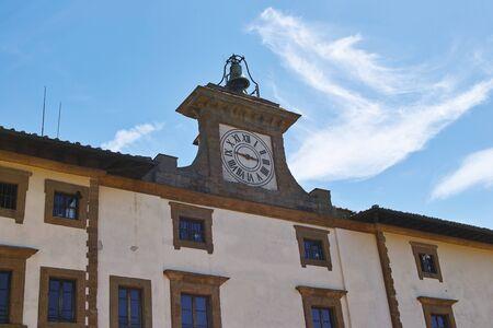 Firenze, particolare del Forte Belvedere con in primo piano lorologio