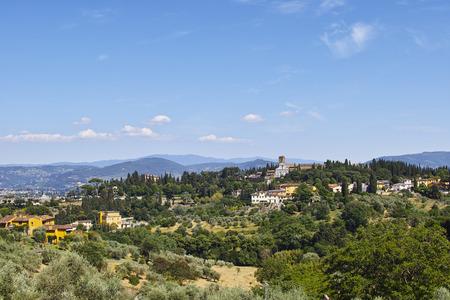 Panorama della campagna fiorentina ripreso dal Forte di Belvedere