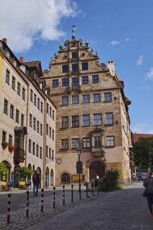 Norimberga, tipica casa medievale 스톡 콘텐츠