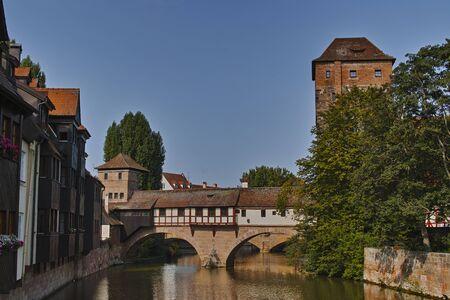 Nuremberg, Ponte del Boia on the Pegnitz River