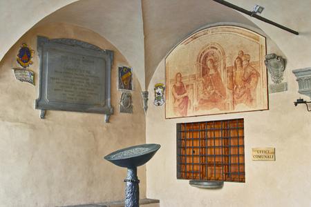 Palazzo del Podest의 로지아 Chianti에있는 Radda