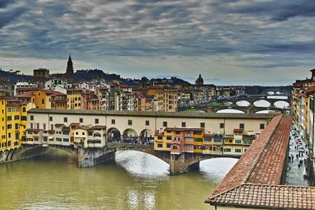 Firenze, il Ponte Vecchio 스톡 콘텐츠