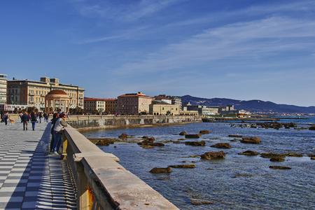 Livorno, veduta della Terrazza Mascagni Stock Photo - 99437040