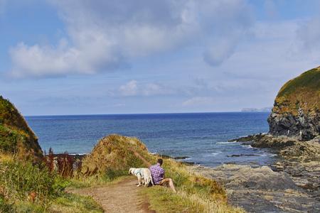 Port Isaac, Cornovaglia, paesaggio 에디토리얼