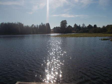 blackman: A lake scene.