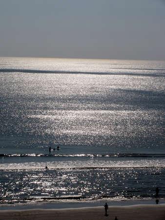 evening beach scene Stok Fotoğraf