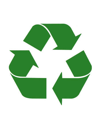 Triangular recycling symbol Stock Photo - 676021