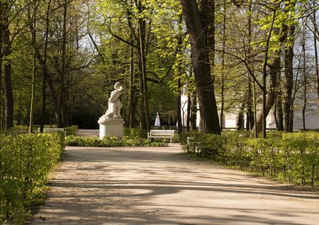 the royal park: Warsaw.Poland.Lazienki(Bath) Royal Park.