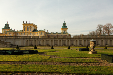 sobieski: Poland-Wilanow, Warsaw, December 2015. The Royal gardens at the palace of Wilanow in December 2015 in the frosty morning.Editorial.