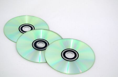 cds: isolated cds Stock Photo