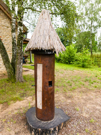 Bee hive for the honey production in the garden, original design