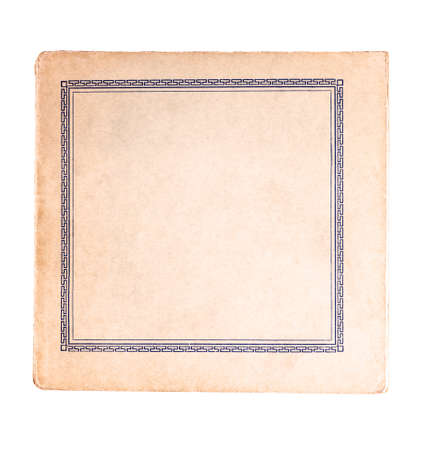 Classical antique old square book cover empty inside, blank retro book frame.