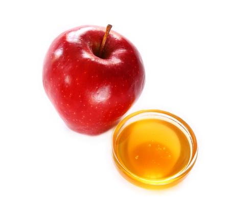 rosh hashanah concept - apple, honey  photo