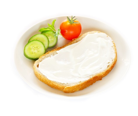 sandwich spread: Healthy food for diet as bread and vegetables