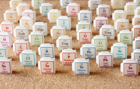 Periodic table of elements  Selective focus  science education concept  photo