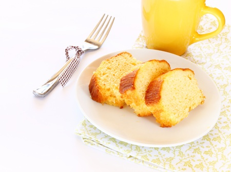 pound cake: lemon cake Stock Photo
