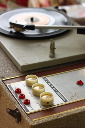 vintage record player Stock Photo - 21301349