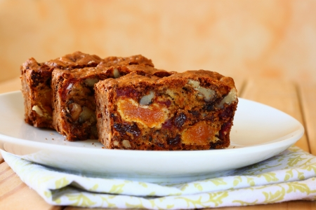 energy mix: homemade healthy cake with dried fruits