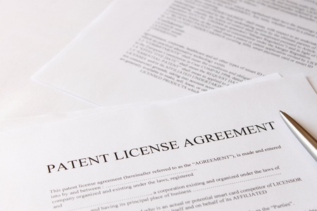 law business: patent licensee agreement Stock Photo