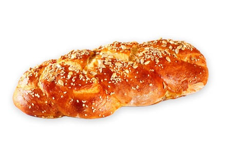 challah bread isolated photo