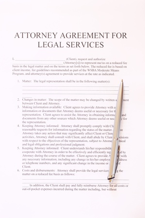 Exclusivity Agreement Form With Pen And Glasses Stock Photo