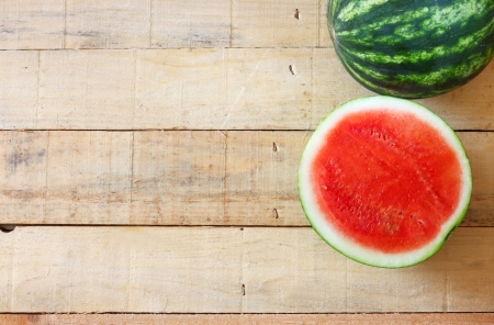 watermelon on wooden table Stock Photo - 22368272