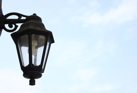 lampost: vintage street lamp isolated