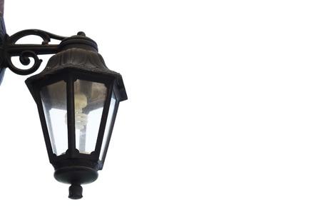 vintage street lamp isolated photo