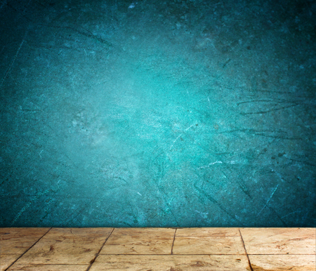 grunge textured blue wall and floor pattern photo