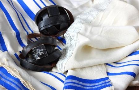 sephardic: Prayer Shawl - Tallit, jewish religious symbol