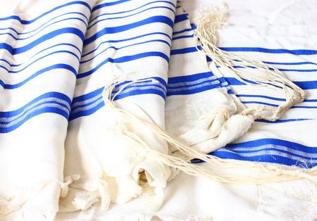 jewish: Prayer Shawl - Tallit, jewish religious symbol