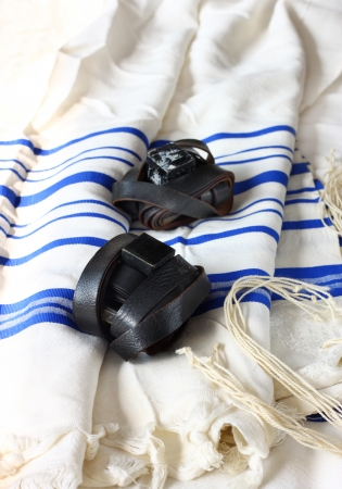 Prayer Shawl - Tallit, jewish religious symbol photo