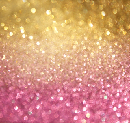 pink christmas: gold and pink abstract bokeh lights  defocused background