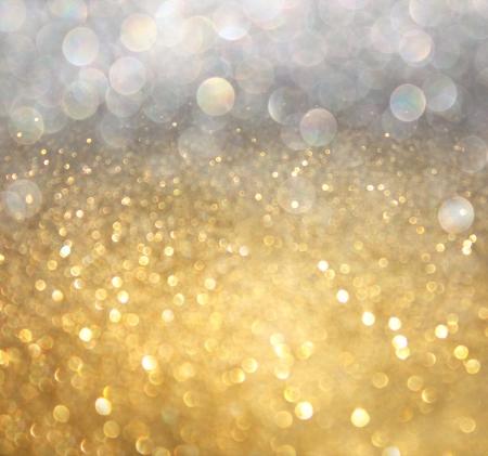 Weiß Silber und Gold abstrakten Bokeh Lichter Hintergrund defokussiert Standard-Bild - 24640488