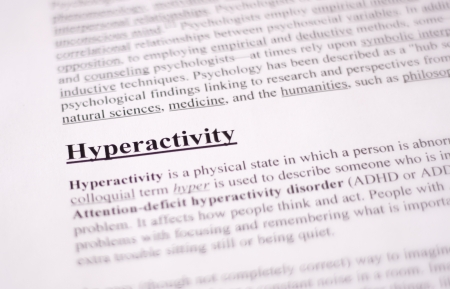 hyperactivity - education or health care background photo