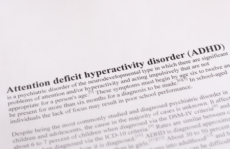medical attention: Attention deficit hyperactivity disorder or ADHD  medical or healthcare
