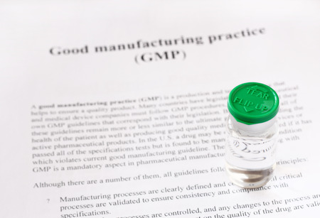 GMP - good manufacturing practice used for production and testing quality product