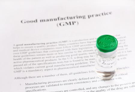 GMP - buone prassi di fabbricazione utilizzati per il prodotto di produzione e di test di qualità
