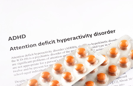 hyperactivity: Attention deficit hyperactivity disorder or ADHD  medical or healthcare background Stock Photo